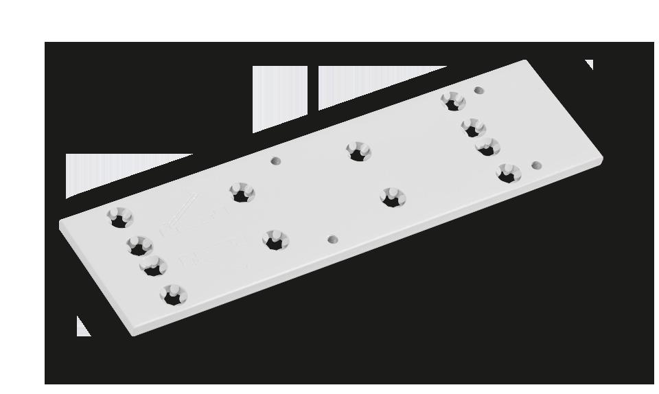 Montageplatte DORMA für TS 72 silber